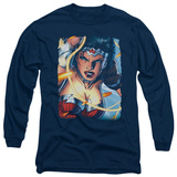 Long Sleeve: Wonder Woman - Scowl T-Shirt