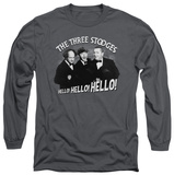 Long Sleeve: The Three Stooges - Hello Again T-shirts