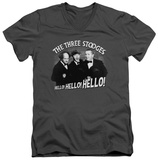 The Three Stooges - Hello Again V-Neck T-shirts
