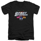 2 Fast 2 Furious - Logo V-Neck T-Shirt