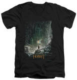 The Hobbit: The Desolation of Smaug - At Smaug's Door V-Neck T-shirts