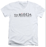 The Middle - Logo V-Neck T-shirts