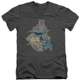 Batman - Batgirl Biker V-Neck T-Shirt