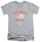 Airplane - Trans American V-Neck T-Shirt
