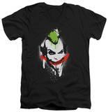 Batman Arkham City - Spraypaint Smile V-Neck T-Shirt