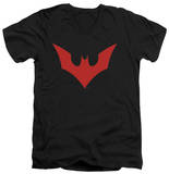 Batman Beyond - Beyond Bat Logo V-Neck Shirts