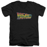 Back To The Future - Logo V-Neck T-Shirt