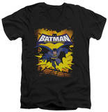 Batman The Brave and the Bold - Rooftop Leap V-Neck Shirts