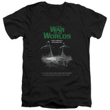 War Of The Worlds - Attack Poster V-Neck Shirts