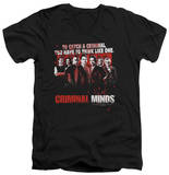 Criminal Minds - Think Like One V-Neck T-shirts