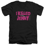 The L Word - I Killed Jenny V-Neck T-Shirt