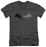 Batman Arkham City - Bat Logo V-Neck Shirts