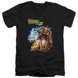 Back To The Future III - Poster V-Neck T-Shirt