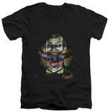 Batman Arkham Asylum - Crazy Lips V-Neck T-shirts