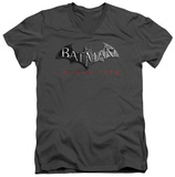 Batman Arkham City - Logo V-Neck T-Shirt