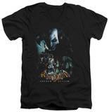 Batman Arkham Asylum - Five Against One V-Neck T-Shirt