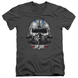 Top Gun - Iceman Helmet V-Neck T-Shirt