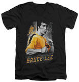 Bruce Lee - Yellow Dragon V-Neck T-Shirt