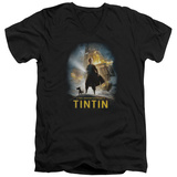 The Adventures of Tintin - Poster V-Neck T-shirts