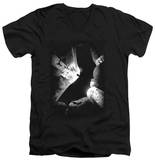 Batman Begins - BW Poster V-Neck T-shirts