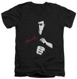 Bruce Lee - The Dragon Awaits V-Neck T-shirts