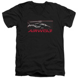 Airwolf - Grid V-Neck T-Shirt