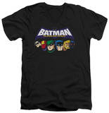 Batman The Brave and the Bold - Head Lineup V-Neck T-shirts