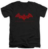 Batman Arkham City - Red Bat V-Neck T-Shirt