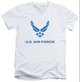 Air Force - Distressed Logo V-Neck T-Shirt