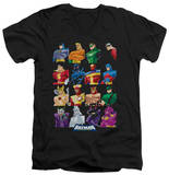 Batman The Brave and the Bold - Cast Of Characters V-Neck T-shirts