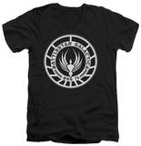 Battlestar Galactica - Galactica Badge V-Neck T-Shirts