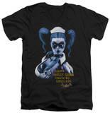 Batman Arkham Asylum - Arkham Harley Quinn V-Neck T-Shirt