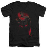 Superman - Red Son V-Neck Shirts