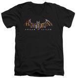 Batman Arkham Asylum - Arkham Asylum Logo V-Neck T-shirts