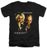 Bride Of Chucky - Chucky Gets Lucky V-Neck T-Shirt