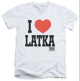 Taxi - I Heart Latka V-Neck T-shirts