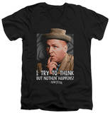 The Three Stooges - Try To Think V-Neck T-shirts