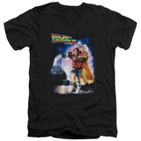 Back To The Future II - Poster V-Neck T-Shirt