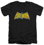 Batman - Batman Neon Distress Logo V-Neck T-shirts