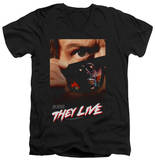 They Live - Poster V-Neck Shirts