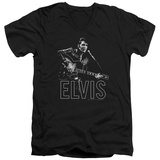 Elvis Presley - Guitar In Hand V-Neck T-shirts