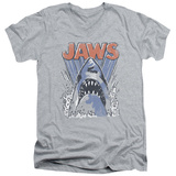 Jaws - Comic Splash V-Neck T-Shirt