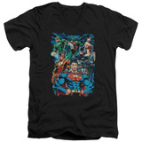 Justice League - Justice Is Served V-Neck Shirts