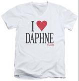 Frasier - I Heart Daphne V-Neck T-shirts