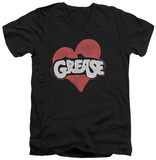 Grease - Heart V-Neck T-Shirt