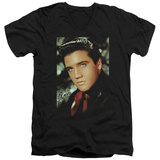 Elvis Presley - Red Scarf V-Neck T-Shirt