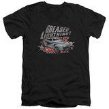 Grease - Greased Lightening V-Neck T-shirts