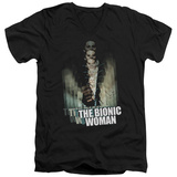 Bionic Woman - Motion Blur V-Neck Shirts