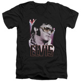 Elvis Presley - 70's Star V-Neck Shirt