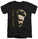James Dean - Smoke V-Neck T-shirts